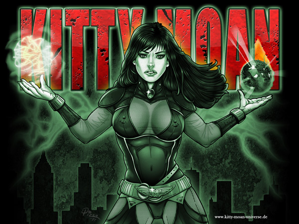 Kitty Moan Wallpapers - Good and Evil - mono