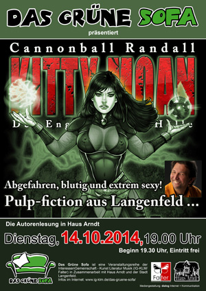 Plakat Lesung Kitty Moan in haus Arndt in Langenfeld am 14.10.2014